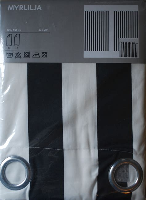 black and white grommet curtains love black and white striped grommet curtains from ikea