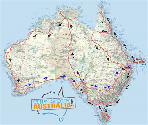 map around australia caravan road trip itinerary around australia