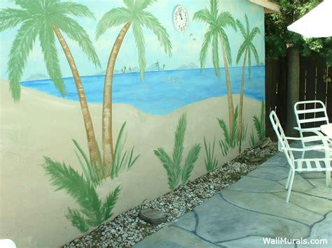 House Wall Murals tropical murals beach house murals