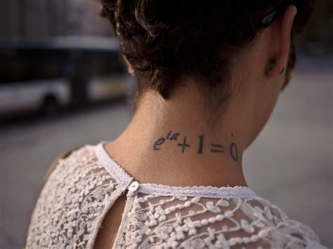 neck tattoos for girls side neck mathematical for