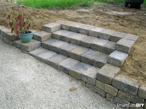 building patio paver stairs diy yard makeover 2011