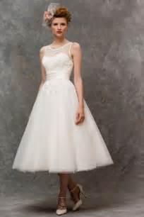 Home gt tea length retro style short wedding dress by true bride