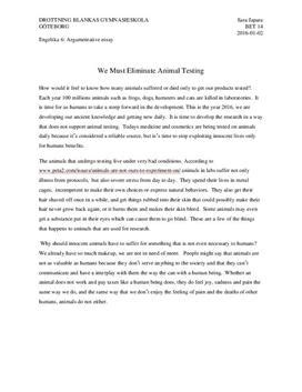 Persuasive Essay Against Animal Testing by Against Animal Testing Argumentative Essay Studienet Se