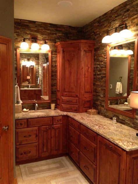 rustic master bathroom rustic elegant master bath