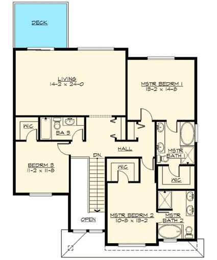 two master bedrooms 63201hd architectural designs two master suites 23460jd architectural designs