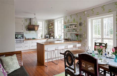 wallpaper in kitchen ideas kitchen wallpaper ideas wall decor that sticks