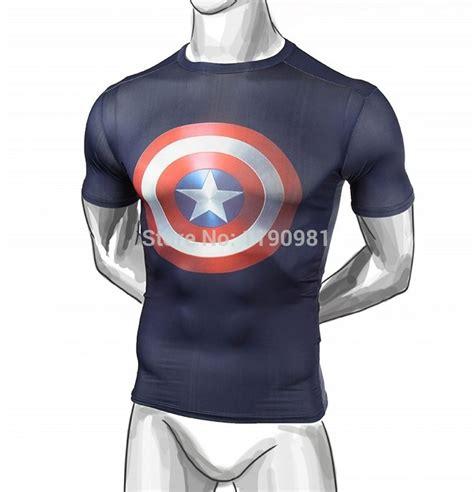 T Shirt New Captain America 05 new 2015 captain america fitness t shirt superman