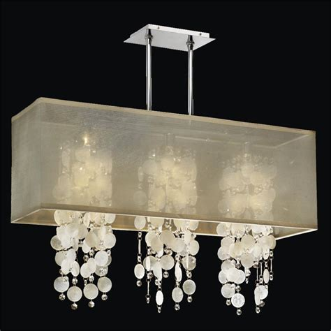 Capiz Chandelier Rectangular Rectangular Shade Chandelier Capiz Shell And Chandelier Omni 627k