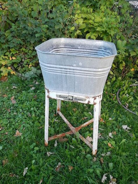 galvanized laundry sink with stand vintage galvanized steel metal wash tub sink by