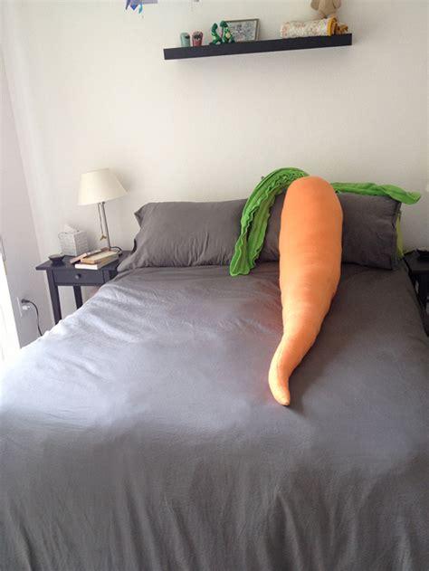 a 4 foot stuffed carrot pillow that will