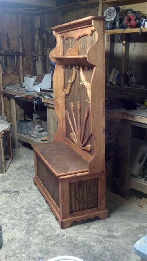 deacon bench  storage woodworking projects plans