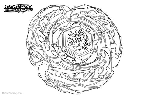 L Drago Coloring Pages by Beyblade Burst Evolution Coloring Pages With Free
