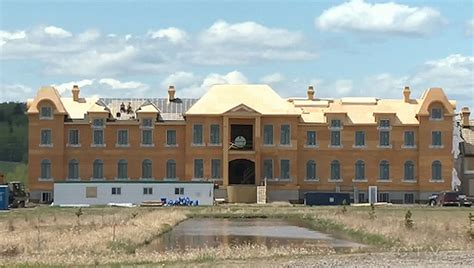Chateau Style House Plans French Style Mega Mansion Under Construction In Alberta