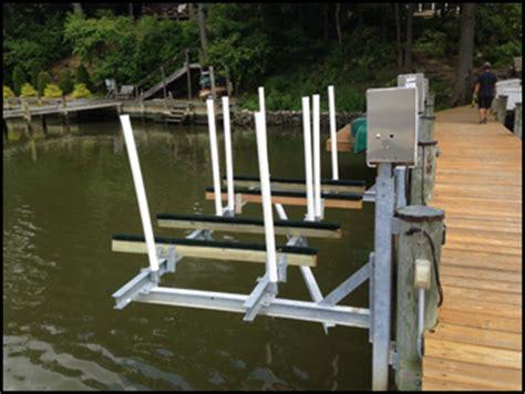 boat lift piling spacing magnum boat lifts magnum mini mag 2800