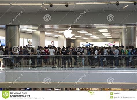 apple hongkong second apple store of hong kong editorial stock image
