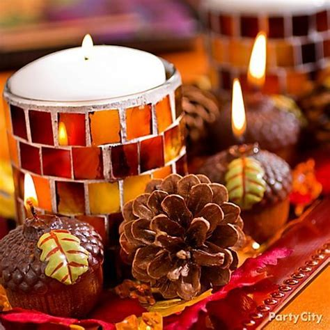 homemade thanksgiving decorations for the home arrange a tray of seasonal candles for a festive look get