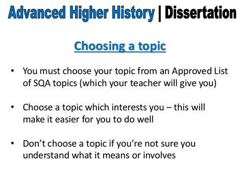 history dissertation topics advanced higher history dissertation choosing a topic