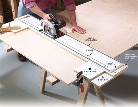 plywood crosscut guide popular woodworking magazine