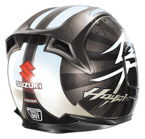 suzuki motocross gear icon airframe suzuki hayabusa full face helmet black
