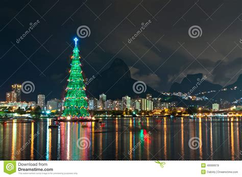 xmas tree structure tree structure in de janeiro stock photo image 48999978