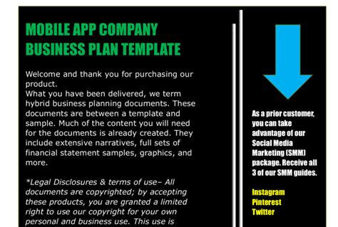 business plan template for app mobile app business plan template fiverr