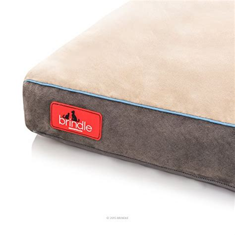 dog bed with removable cover brindle soft memory foam dog bed with removable washable cover 46in x 28in