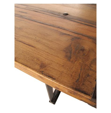 riveter s industrial modern chunky wood dining table