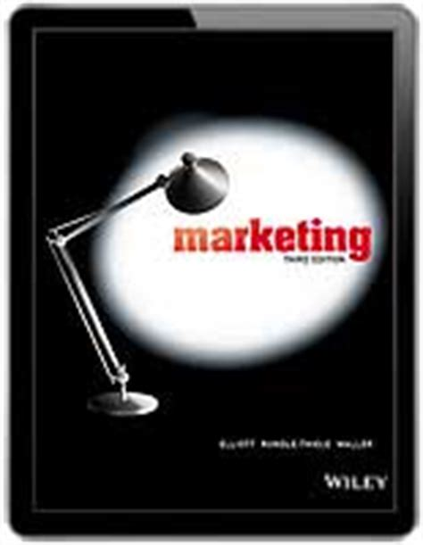 E Marketing Third Edition marketing 3rd edition greg elliott sharyn rundle thiele 60 wiley direct