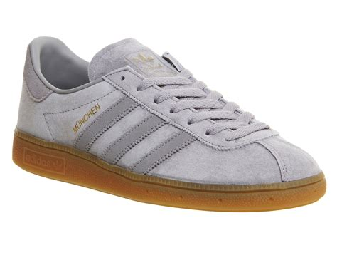 Adidas Munchen Snakers adidas munchen solid grey gum trainers shoes ebay