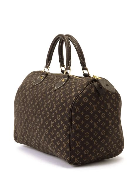 Louis Vuitton Monogrammed Shearling Handbag by Louis Vuitton Monogram Mini Speedy 30 Handbag In Brown