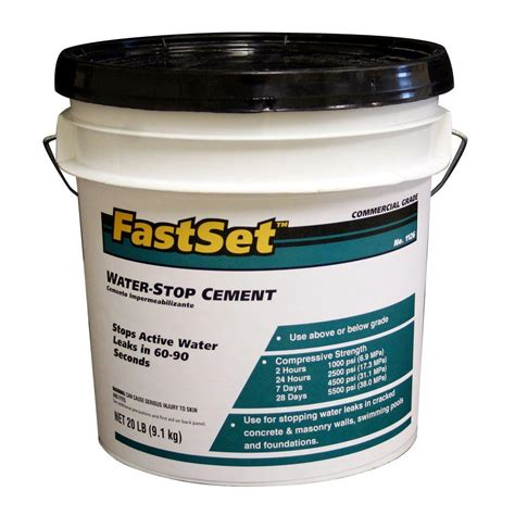 quikrete fastset 20 lb hydraulic water stop cement 112626