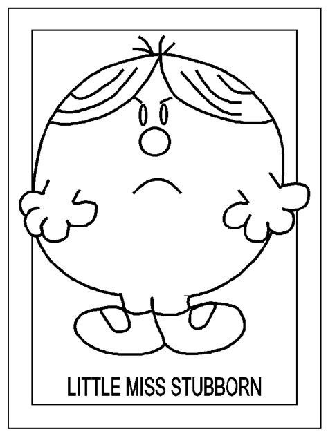 Little Miss Coloring Pages Coloringpagesabc Com Miss Colouring Pages