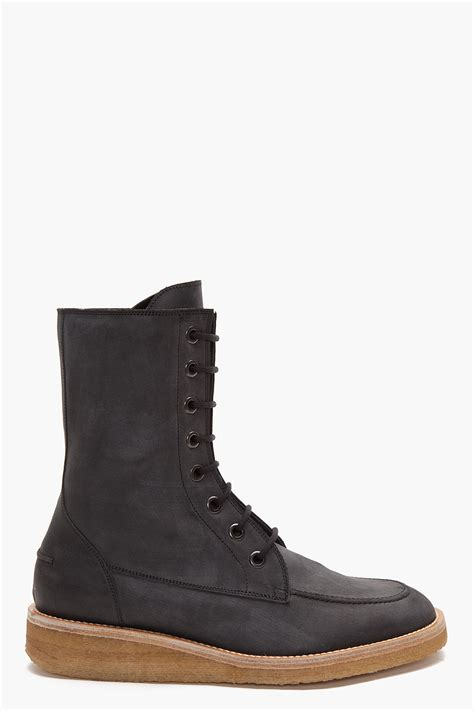 marc mens boots marc high hudson boots in black for lyst