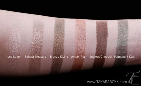 L Oreal Infallible Eyeshadow l or 233 al infallible eyeshadow swatches review takaraboxx