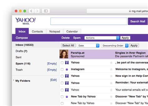 yahoo email junk how to switch to yahoo mail basic
