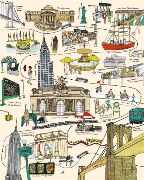 map of nyc with landmarks random notes geographer at large unconventional yet