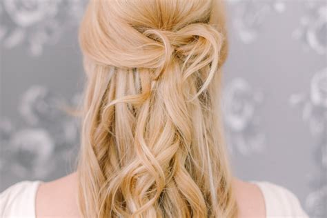 Bridal Hair Half Up Tutorial by Half Up Hair Tutorial Half And Half Bloved