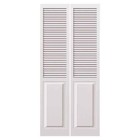 Solid Wood Louvered Doors Interior Shop Reliabilt 36 Quot W Louvered Solid Wood Interior Bifold Door At Lowes