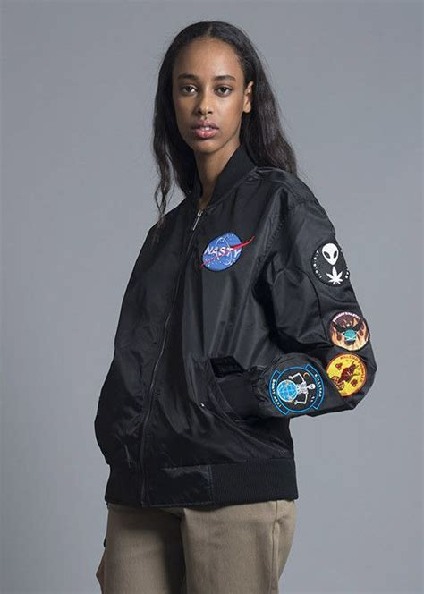 Jaket Angela Pink Black Grey bomber jacket bomber jackets bombers and