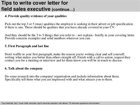 Field Sales Executive Cover Letter field sales executive cover letter
