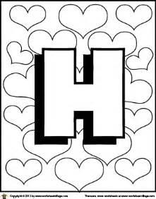 h color letter h coloring page