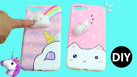 squishy phone diy viral squishy phone 3d unicorn kawaii cat