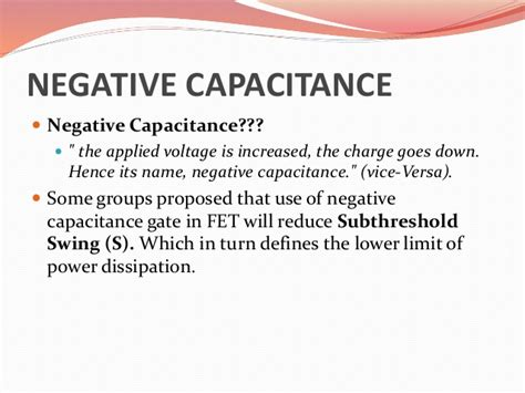 which of the following will increase the capacitance of a parallel plate capacitor negative capacitance fet