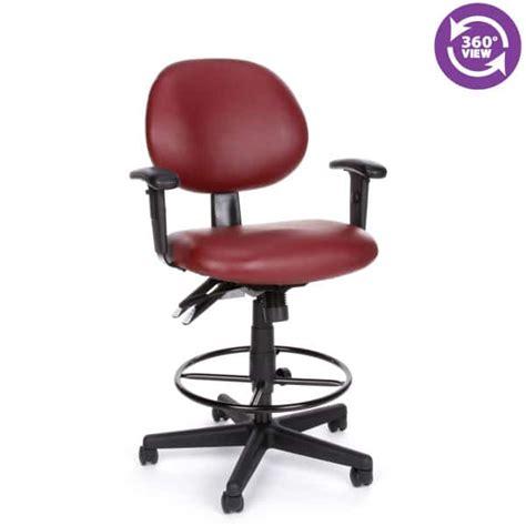 Anti Bacterial Wine Vinyl Office Task Chair W Arms by 24 Hour Anti Microbial Anti Bacterial Vinyl Computer Task