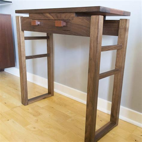 solid walnut console table console table featuring solid walnut base and walnut and