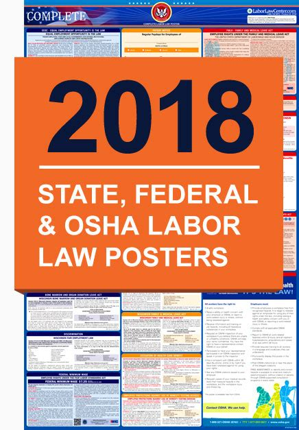 printable federal labor laws poster state and federal labor law posters compliance posters