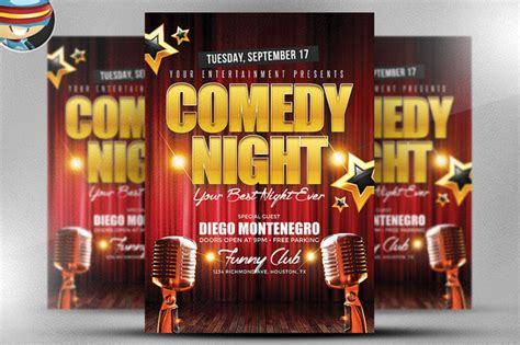 comedy poster template comedy flyer template flyer templates on creative