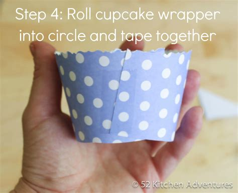 How To Make Cupcake Paper - step 4 roll cupcake wrapper and together 52 kitchen