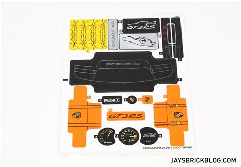 Lego Porsche Gt3 Aufkleber by Unboxing The Lego Technic 42056 Porsche 911 Gt3 Rs