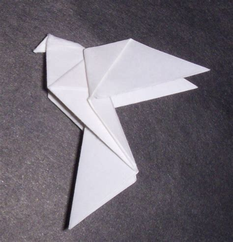 peace dove origami traditional origami